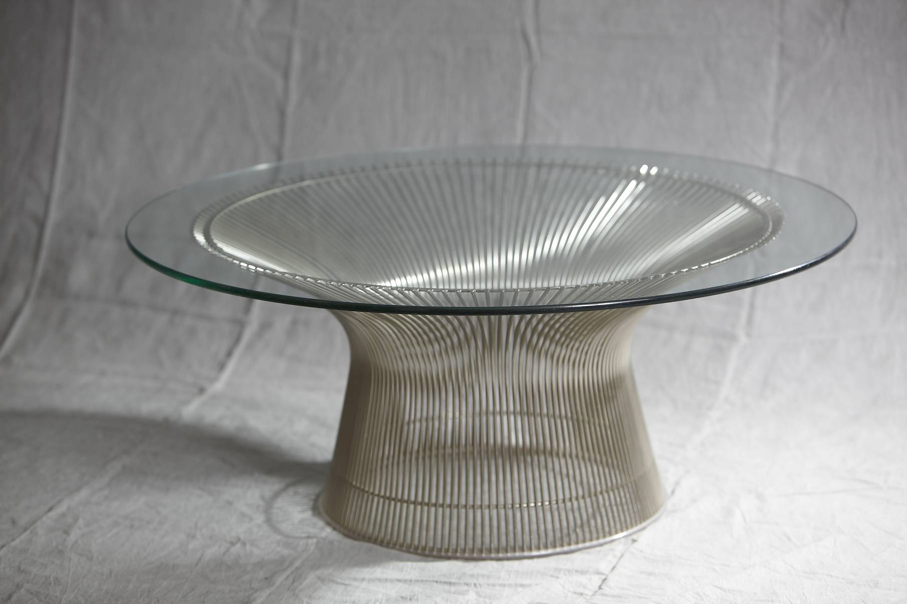 Chrome plated coffee table for Knoll JENS BUETTNER DESIGN ANTIQUES